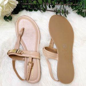 Coach   Caterine Logo Hardware Flat Sandals